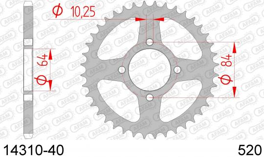 Suzuki LT-Z 400 K5/K6 05-06 Sprocket Rear - Afam