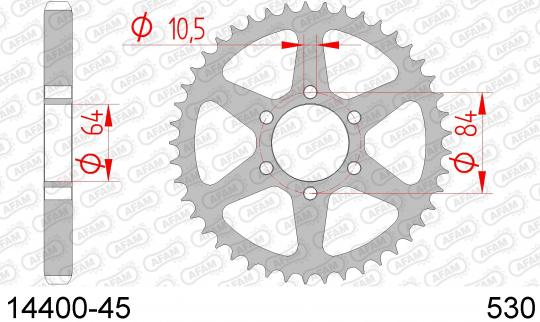 Suzuki GS 550 DB/DC 77-78 Sprocket Rear - Afam