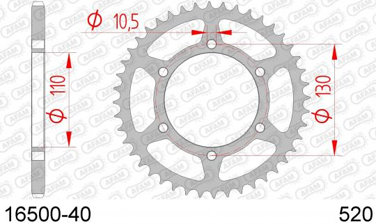 Kawasaki GPZ 500 S (EX 500 D2-D7) (UK Market) 95-01 Sprocket Rear Less 1 Tooth - Afam (Check Chain Length)