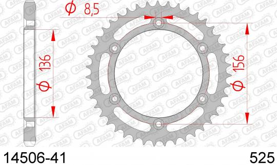 Suzuki DR 650 SE K4/K5/K6/K7/K8/K9/L0/L1/L2 (SP46) (US Market) 04-11 Sprocket Rear Less 1 Tooth - Afam (Check Chain Length)