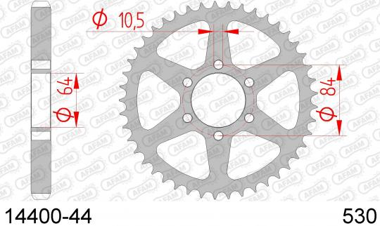 Suzuki GS 450 EE/EF 82-83 Sprocket Rear Less 1 Tooth - Afam (Check Chain Length)