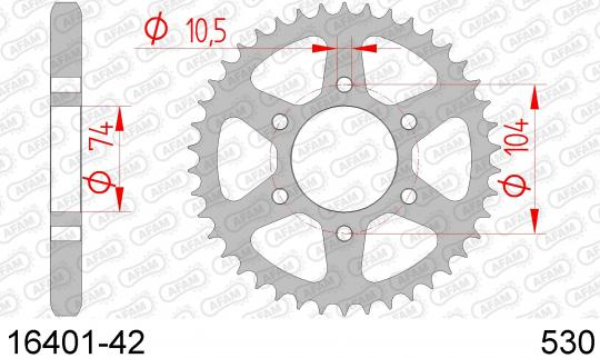 Kawasaki Z 550 (KZ 550 A2) 81 Sprocket Rear Plus 2 Tooth - Afam (Check Chain Length)
