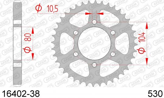 Kawasaki Z 750 B1 Twin (KZ750) 76 Sprocket Rear - Afam
