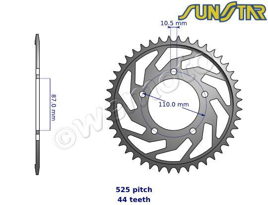 Suzuki SV 650 SK4 04 SunStar Sprocket Rear - Steel
