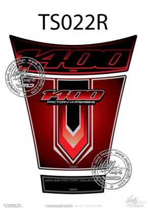 Tank Pad Suzuki Style GSX1400 Motografix Approx. Size H=20cm/L=16cm
