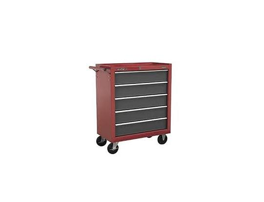 Sealey Rollcab 5 Drawer with Ball Bearing Slides - Red/Grey