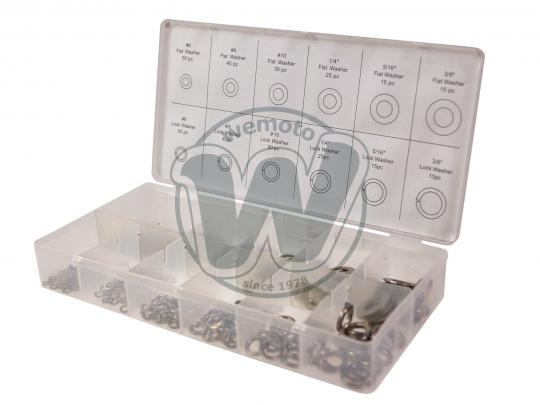 Parts Tray - Washer Assortment Kit - Spring and Plain 350pc  Metric/Imperial