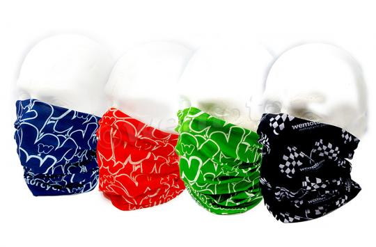 A Pack of 4 Neck Tubes Microfiber Pattern wemoto.com seamless for comfort