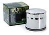 HiFlo Motorcycle Oil Filter, Chrome