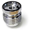 Simota Reusable Motorcycle Oil Filter, Chrome