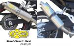 Ducati M1000 Monster 03 Oval Classic Silencer - Stainless Steel