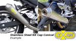 Honda CB 600 F2 Hornet (PC36) 02 Conical NX Cap Silencer - Stainless Steel