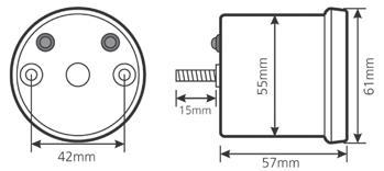 Koso Digi Dark DL-01 Tachometer diagram