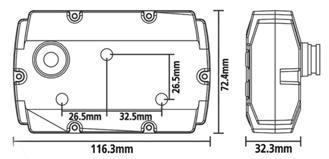 KOSO XR-SR size diagram