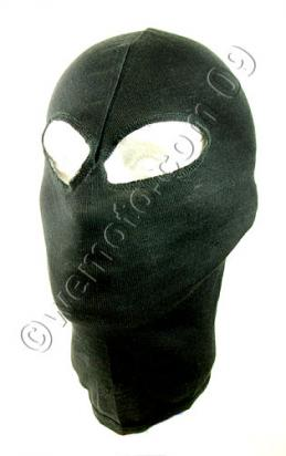Balaclava Black  with 2 Eye Holes Made From  Cotton