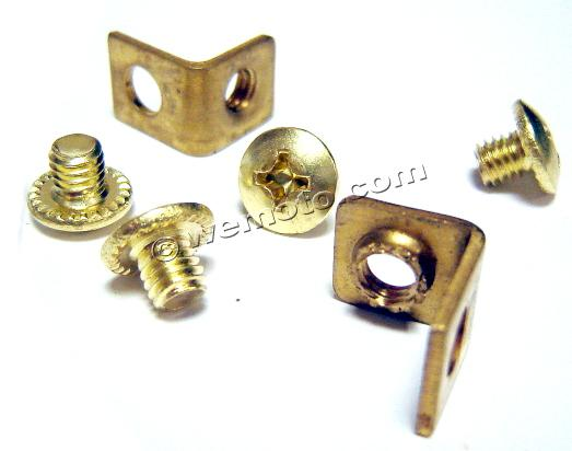 Picture of Terminal Brackets And Screws For Motobatt Battery