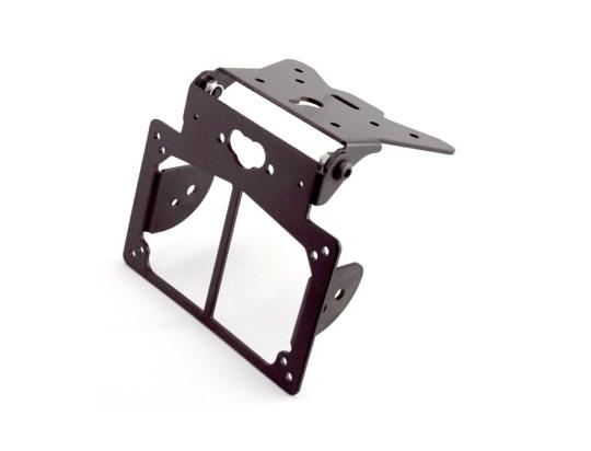 Number Plate Hanger Bracket Universal Adjustable With Side Indicator Mounts