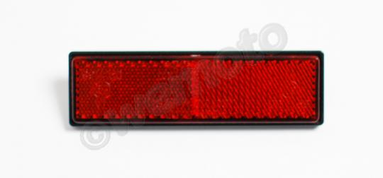 Picture of Reflector Red Bolt-on Rectangle 91x25mm E-marked