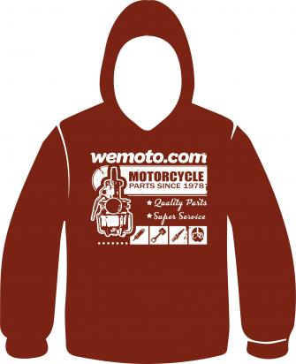 Picture of Hoodie Garnet Wemoto Retro Design - Size X-Large Chest 44 to 46 inch