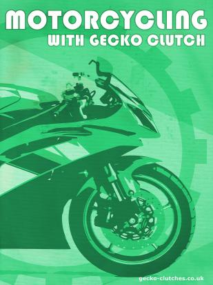 Picture of Motorcycle Retro Poster Gecko Clutch Green Size A1 594 x 841mm