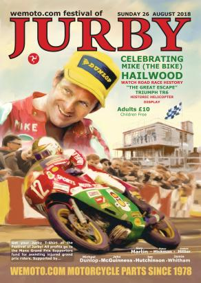Picture of Motorcycle Retro Poster Jurby 2018 Size A2 420 x 594mm    Jurby 2018 Show