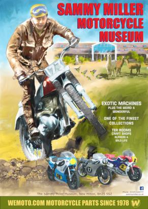 Picture of Motorcycle Poster Sammy Miller Museum Size A2 420 x 594mm