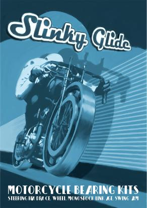 Picture of Motorcycle Retro Poster Slinky Glide Bike Size A2 420 x 594mm
