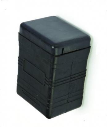 Picture of Battery Box - Rubber Black Length 116mm Width 88mm Height 162mm as B38-6