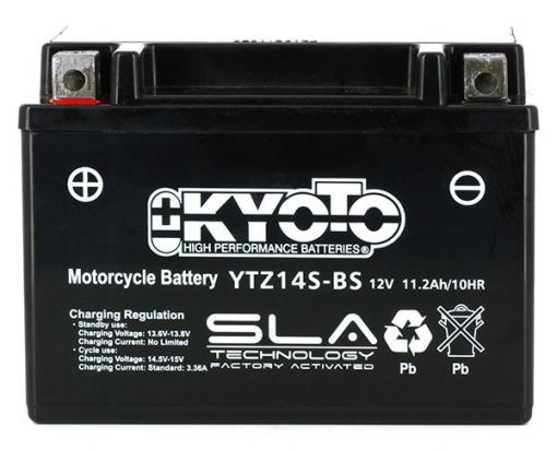 Picture of Battery Kyoto YTZ14S-BS SLA AGM Maintenance Free Factory Activated