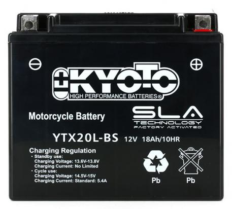 Picture of Battery Kyoto YTX20L-BS SLA AGM Maintenance Free Factory Activated