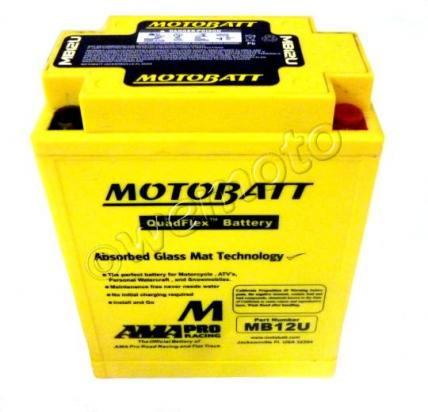 Picture of Battery Motobatt MB12U (Maintenance Free) Sealed