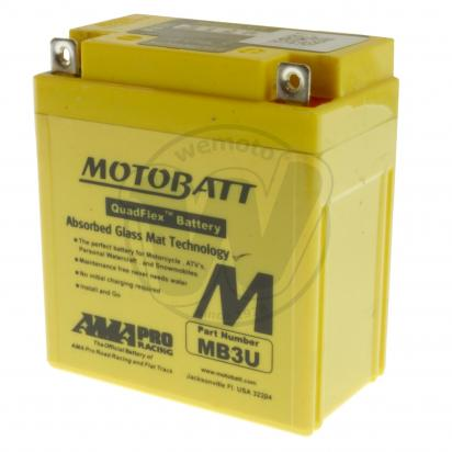 Battery Motobatt MB3U (Maintenance Free) Sealed
