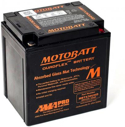 Picture of Battery Motobatt MBTX30UHD (Maintenance Free) Sealed Black