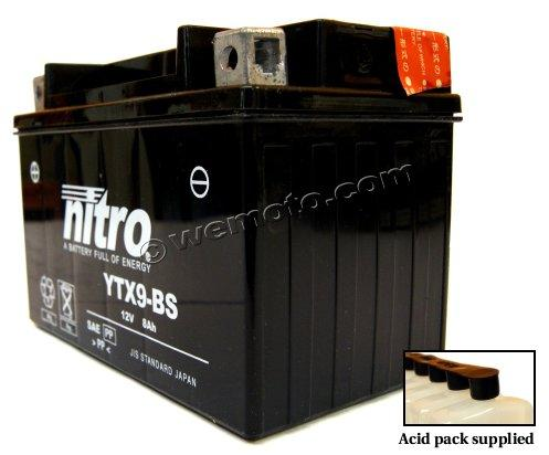 Kawasaki Z 250 Sl Ninja 15 16 Battery Nitro Parts At Wemoto The