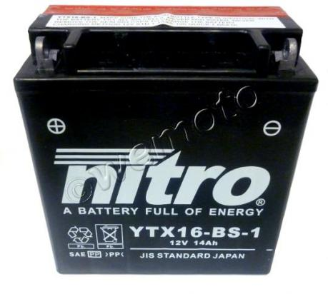 Picture of Battery Nitro YTX16-BS-1 Maintenance Free