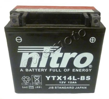 Picture of Battery Nitro YTX14L-BS Maintenance Free