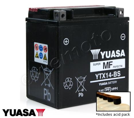 Picture of Battery Yuasa YTX14-BS Maintenance Free