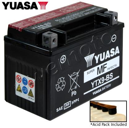 Kawasaki Z 250 Sl Ninja 15 16 Battery Yuasa Parts At Wemoto The