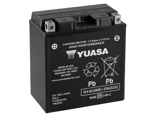 Picture of Battery Yuasa YTX20CH-BS Maintenance Free