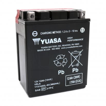 Picture of Battery Yuasa YTX14AHL-BS Maintenance Free High Performance