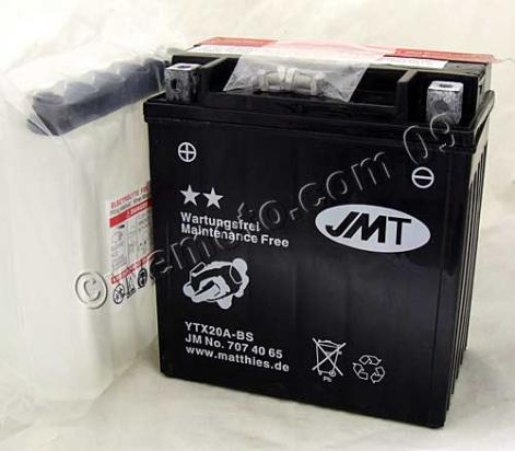 Picture of Battery Pattern YTX20A-BS Maintenance Free