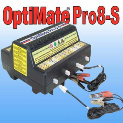 Picture of Battery Charger - Optimate  Pro 8 S - Automated Charger for up to 8 Batteries