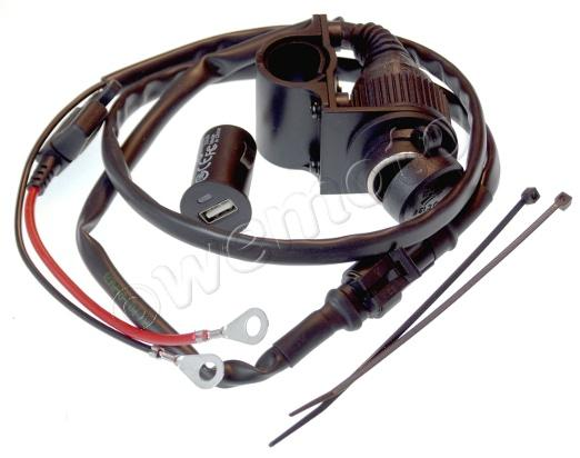 Picture of Cigarette Socket Auxiliary Power Cable With USD Port By BC