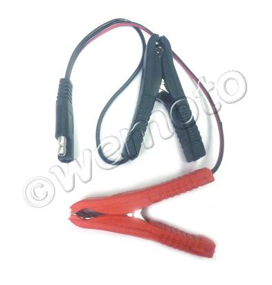Picture of BC Battery Charger Connection Cable With Crocodile Clamps - Old Pug