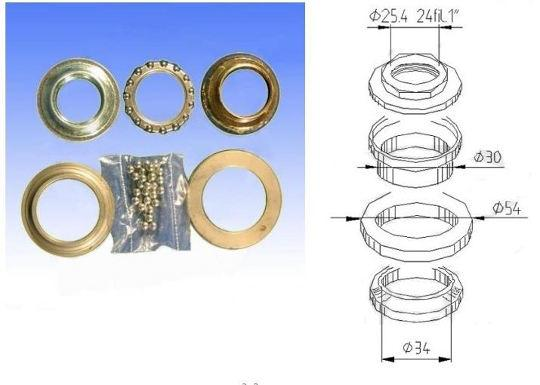 Picture of Honda SH 150 i-D9 (Rear disc model) 09 Headrace Bearing Set