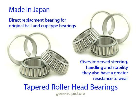 Picture of Tapered Headrace Bearings Set SSH200 Upper 22.5x41x12.5mm Lower 24x41x12.5mm