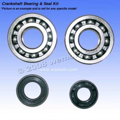Picture of Kawasaki KX 100 B6 96 Crankshaft Seal and Mainbearing Kit