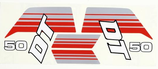 Decal Kit  Yamaha DT50MX 1983 To 1985  Fuel Tank/SidePanels