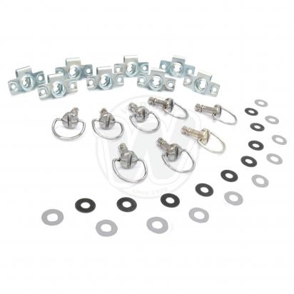 Picture of Fairing Fastener Kit Chrome  Pack of 8 M6 x 14mm D Ring Stud DZUS