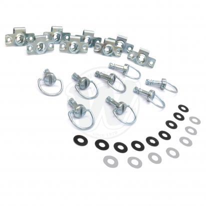 Picture of Fairing Fastener Kit Chrome Zinc Pack of 8 M6 x 14mm D Ring Stud DZUS